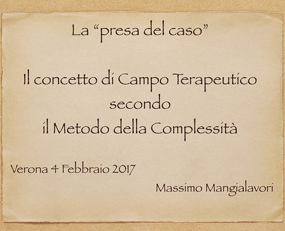 """Verona: """"La presa del caso"""""""